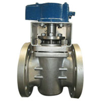 Pneumatic Plug Valve, ASTM A351, PTFE Sleeved
