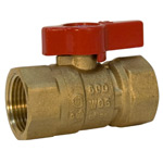 Gas Ball Valve - Female x Female, Lever Handle