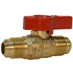 Gas Ball Valve - Flare x Flare, Lever Handle