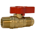 Gas Ball Valve - Flare x MPT, Lever Handle