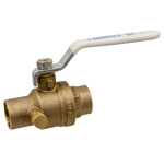 Ball Valve - Lead-Free* Brass, Two-Piece, Full Port, C x C, with Drain